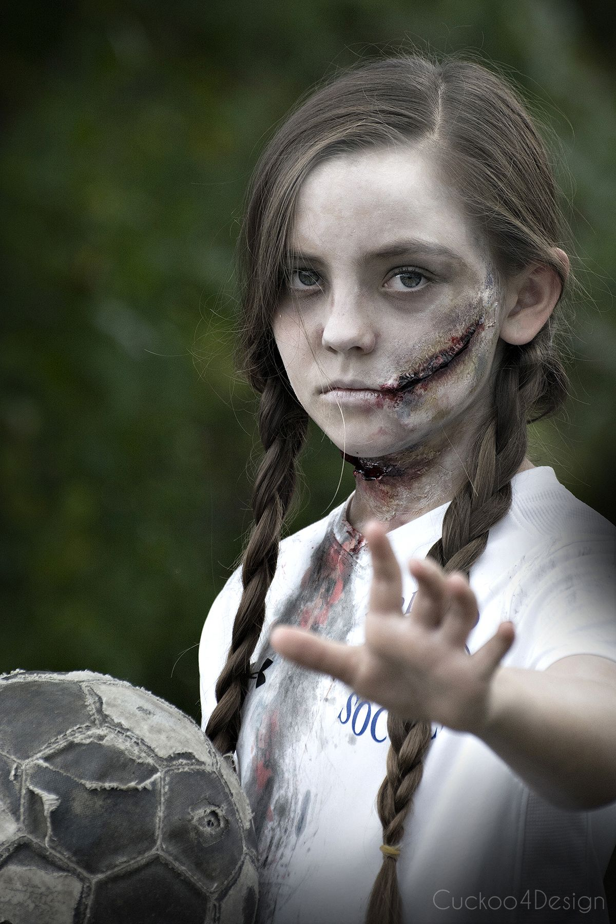 Soccer Zombie Makeup Zombie halloween makeup, Creepy