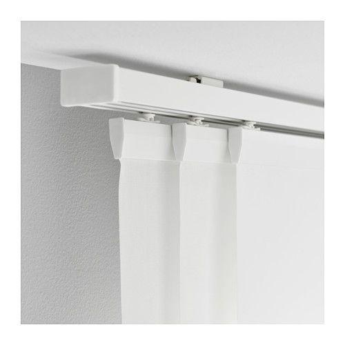 Tessuti filtranti o oscuranti, colori neutri e superfici strutturate, diventano preziosi alleati nel progetto di interior. Vidga Triple Curtain Rail White Ikea Tende A Pannello Tende A Soffitto Tende Per Interni
