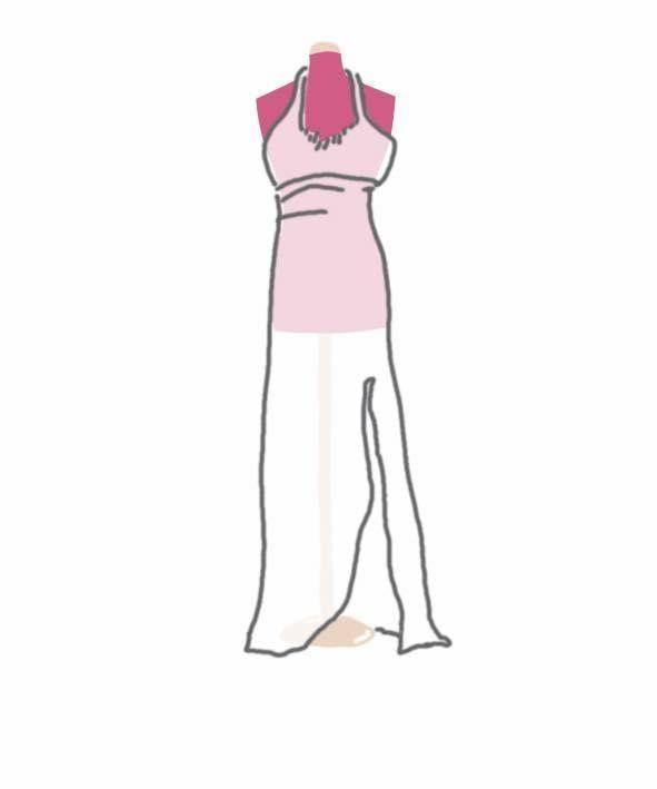 Kleid form figur