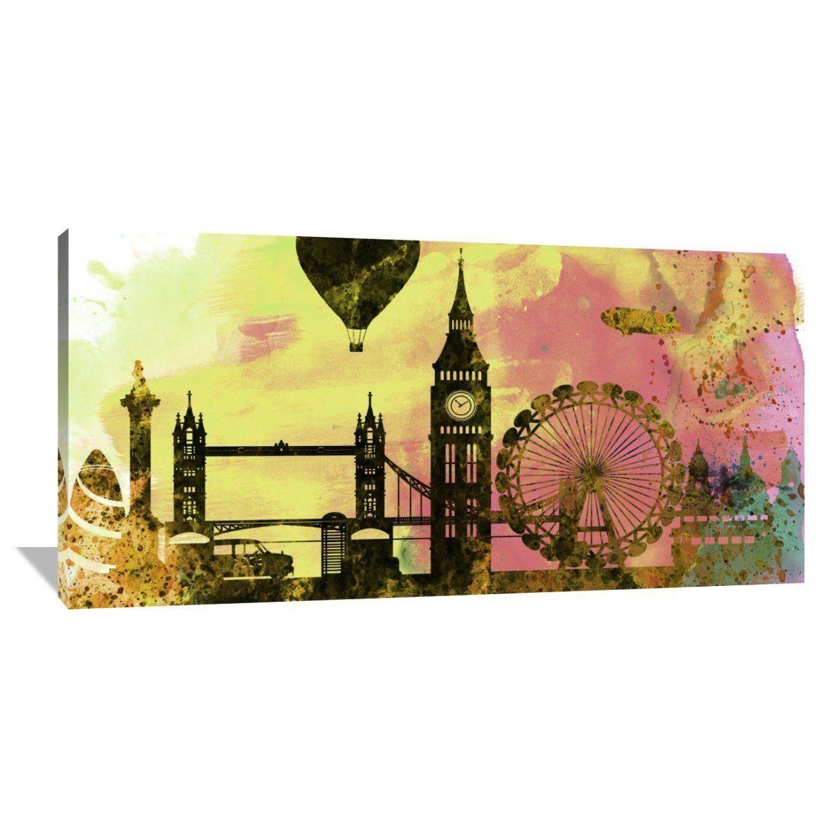 Naxart Studio \'London City Skyline\' Stretched Canvas Wall Art ...