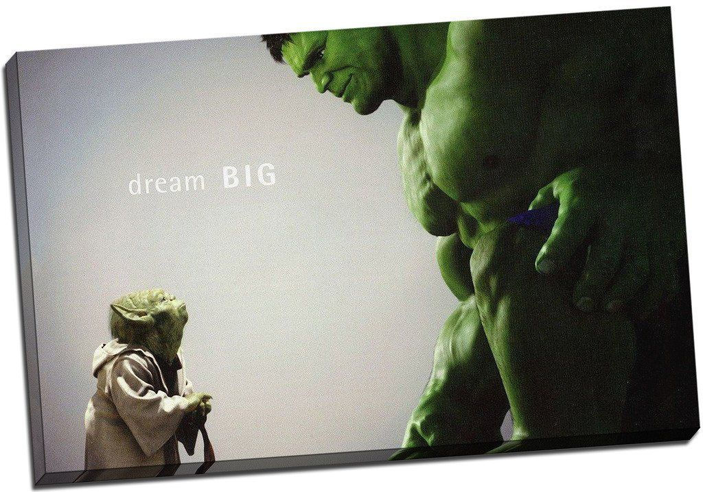 werbung | The Hulk Comic Leinwanddruck, Motiv: Film-/Gerahmter ...