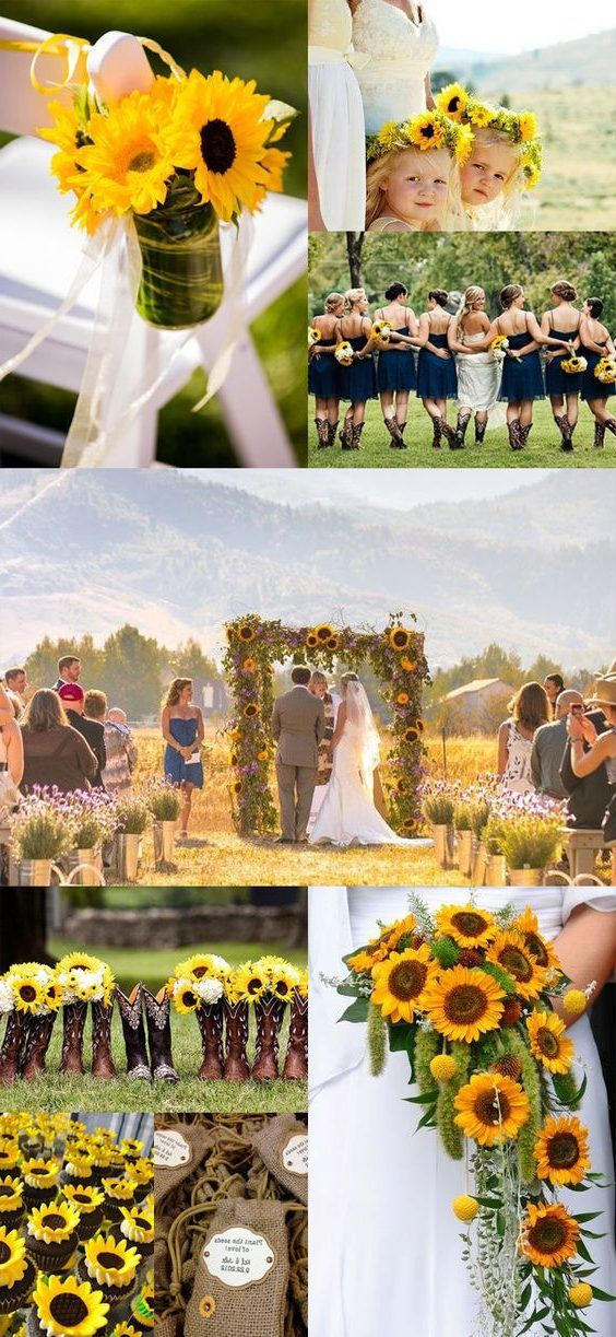 100 Bold Country Sunflower Wedding ideas in 2020 (With