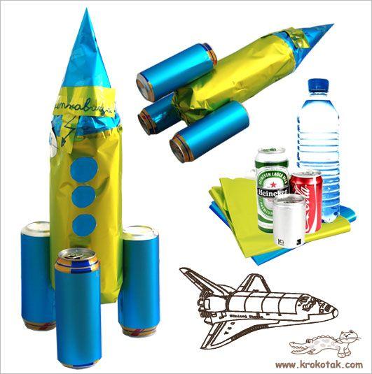 Water Bottle Rocket Projects: Újra űrhajó - Recycled Rocket