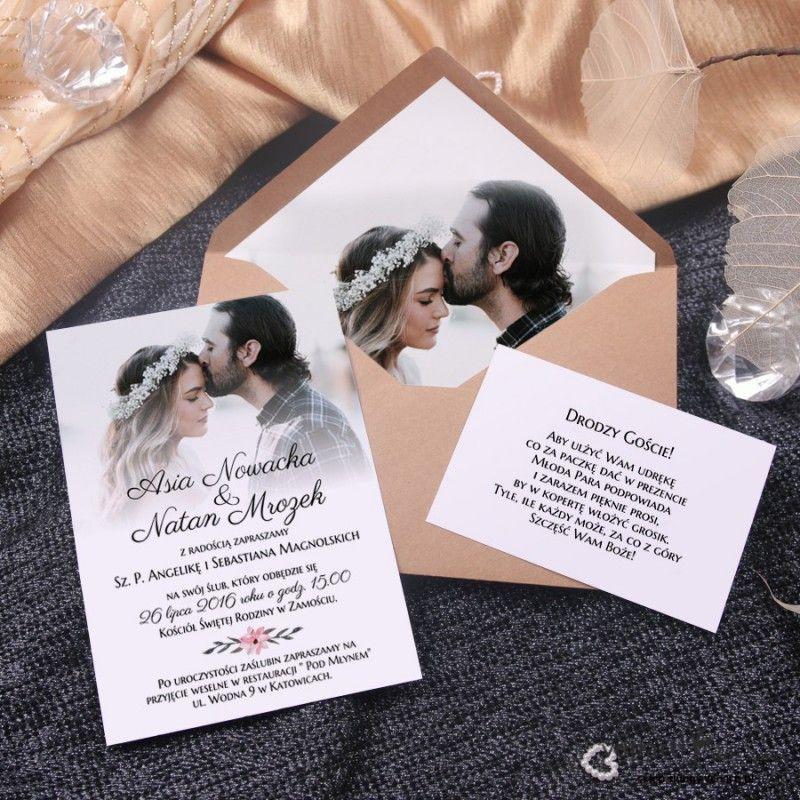 Zaproszenia Slubne Z Waszymi Zdjeciami Creative Wedding Invitations Wedding Cards Wedding Invitation Cards