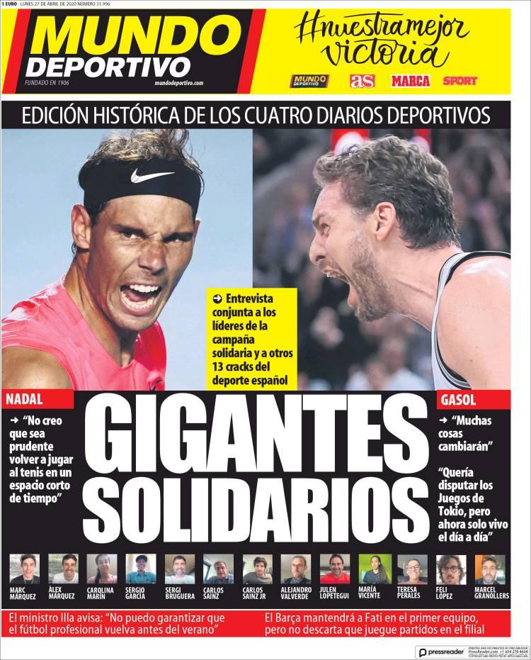 20200427 Periódico El Mundo Deportivo (España