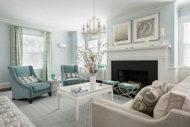 100 Creativity Chic Turquoise Modern Living Room images