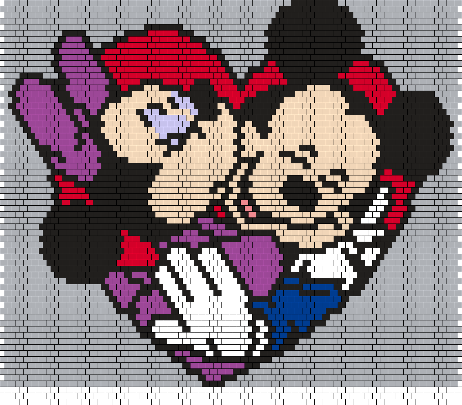 Minnie And Mickey (Peyote) Bead Pattern | Boncuk Sanatı - Bead Arts ...