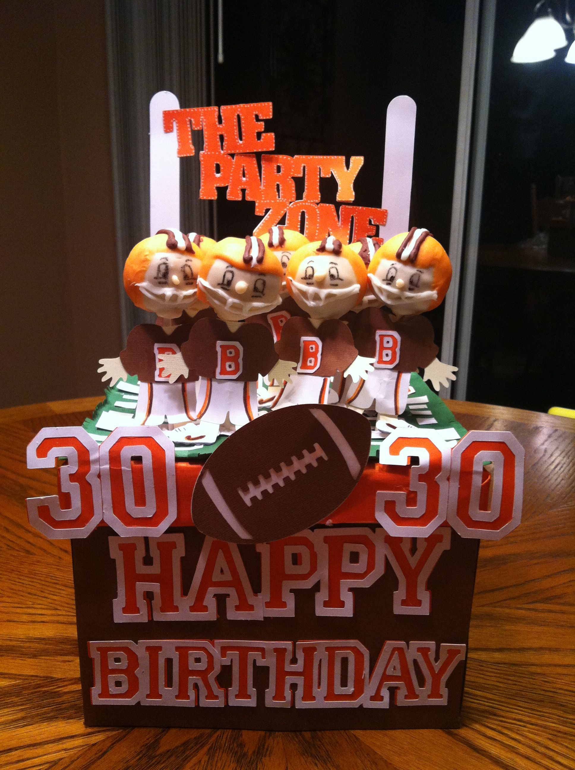 Football cake pops cleveland browns used everyday paper