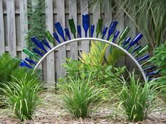 Aluminum Bottle Arch (tree) Love The Recycling Of Glass Bottles In The  Garden As Sculptures!