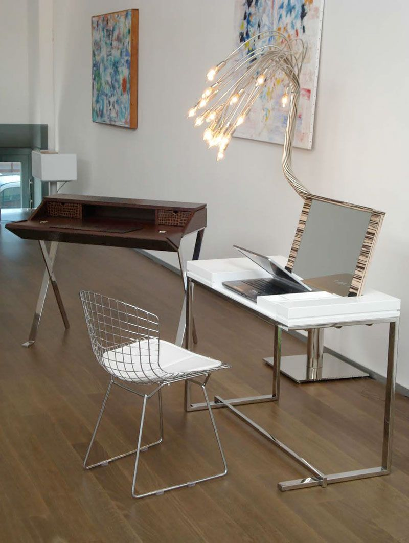 Sabinoaprile produces modern and very elegant furniture to furnish your  contemporary home office  With its writing desks you could create practical  and ver. Modern  white with stowaway mirror    Dressing Tables   Pinterest