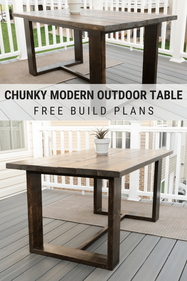 Build Your Own Outdoor Dining Table Modern Outdoor Table Build Plans Modern Outdoor Dining Diy Outdoor Table Outdoor Dining Table Diy