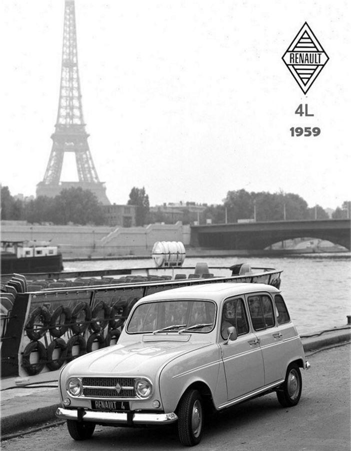 Renault R4 - Paris - Quai de Seine | Plaques vintages ...