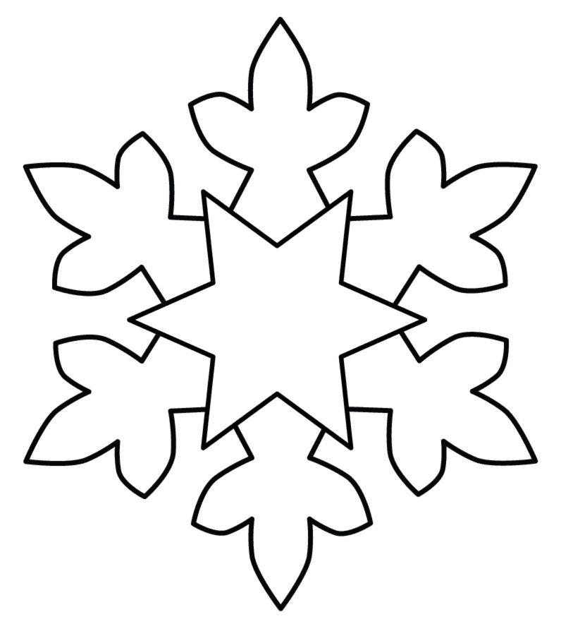 Disegno Di Fiocco Di Neve Da Colorare Per Bambini Gratis