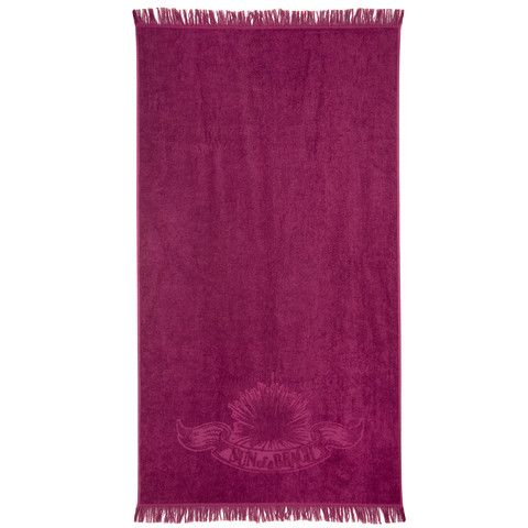 """$62.72 Sun of a Beach """"Just Wine"""" beach towel is super soft, extra large, and comes with a burlap carrying bag! Available at Sunofabeach.com"""