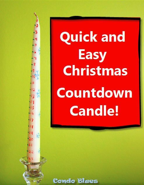 How to Make a Christmas Countdown Calendar Candle Christmas
