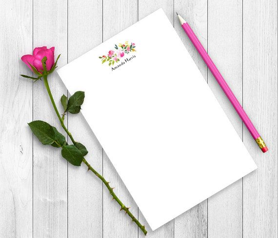 Personalized Notepad Teacher Personalized Notepad Set Personalized Writing Paper Custom Notepad Writing Pad Floral Notepad Fnp07 Flower Frame Flower Background Wallpaper Writing Paper