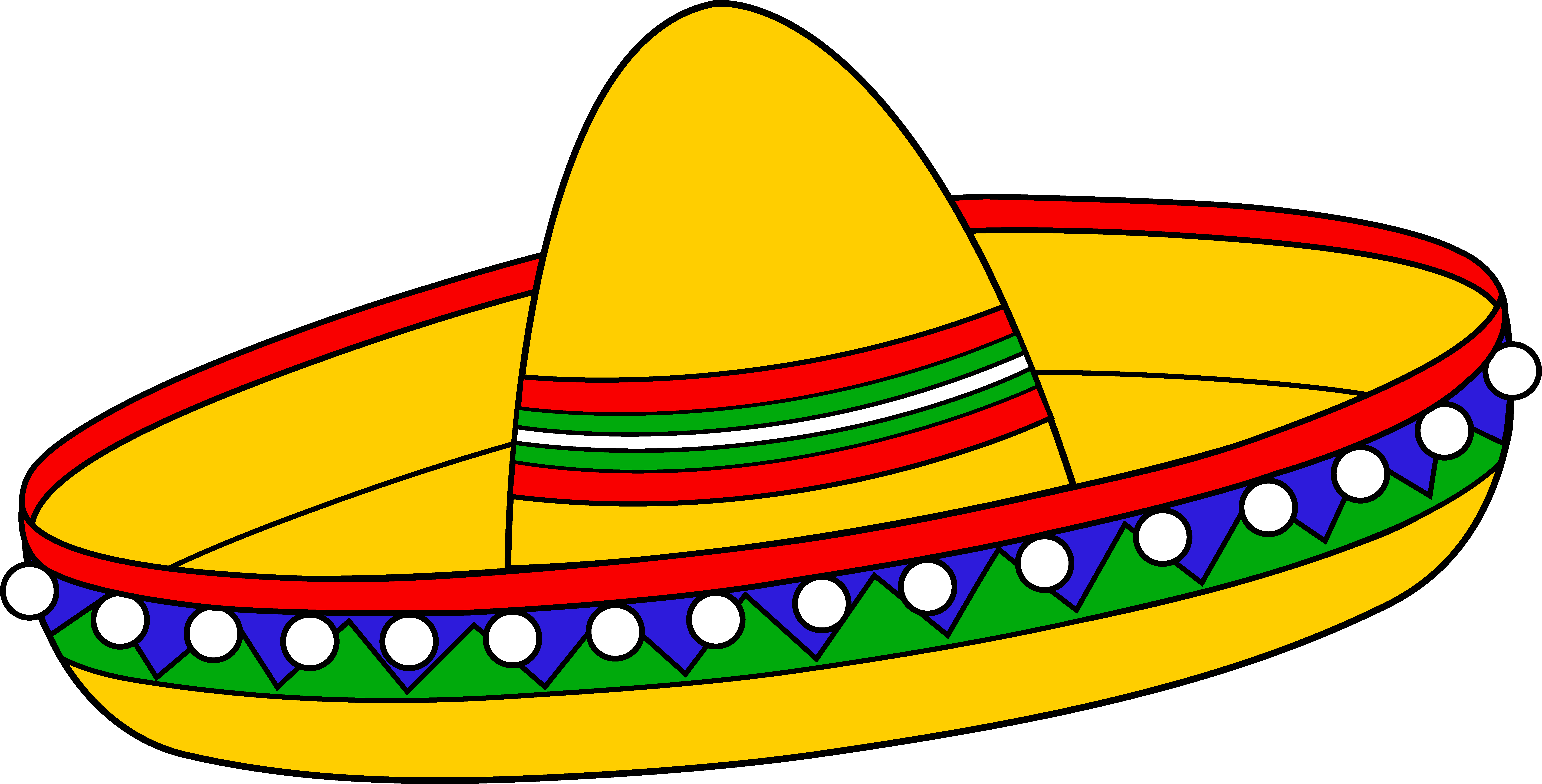 colorful mexican sombrero hat free clip art [ 8783 x 4467 Pixel ]