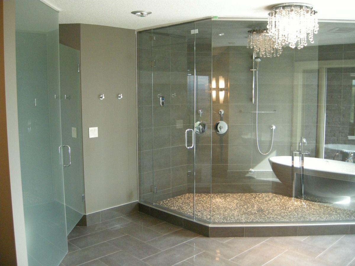 Frameless Glass Steam Shower And Water Closet Door House Of