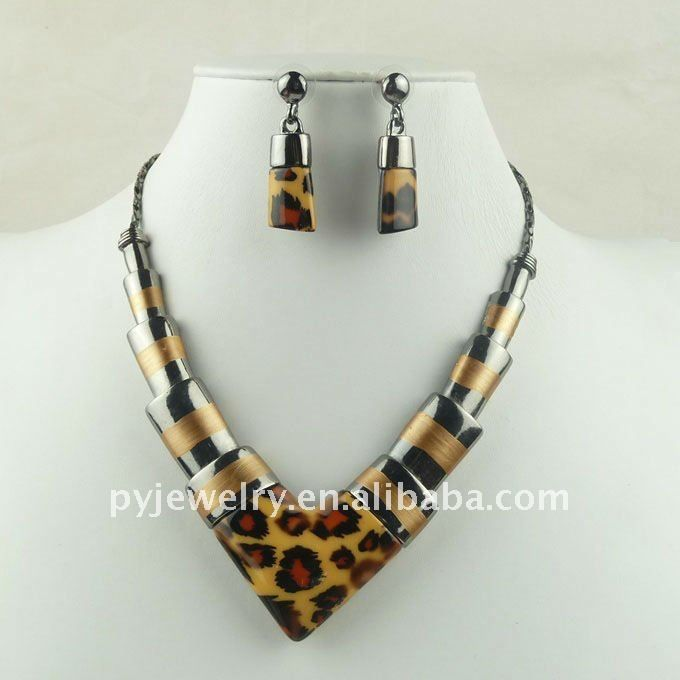 Cheap Chunky Cowgirl Jewelry | 2012 Wholesale V Style Collar Chunky Necklace Set,Fashion Leopard ...