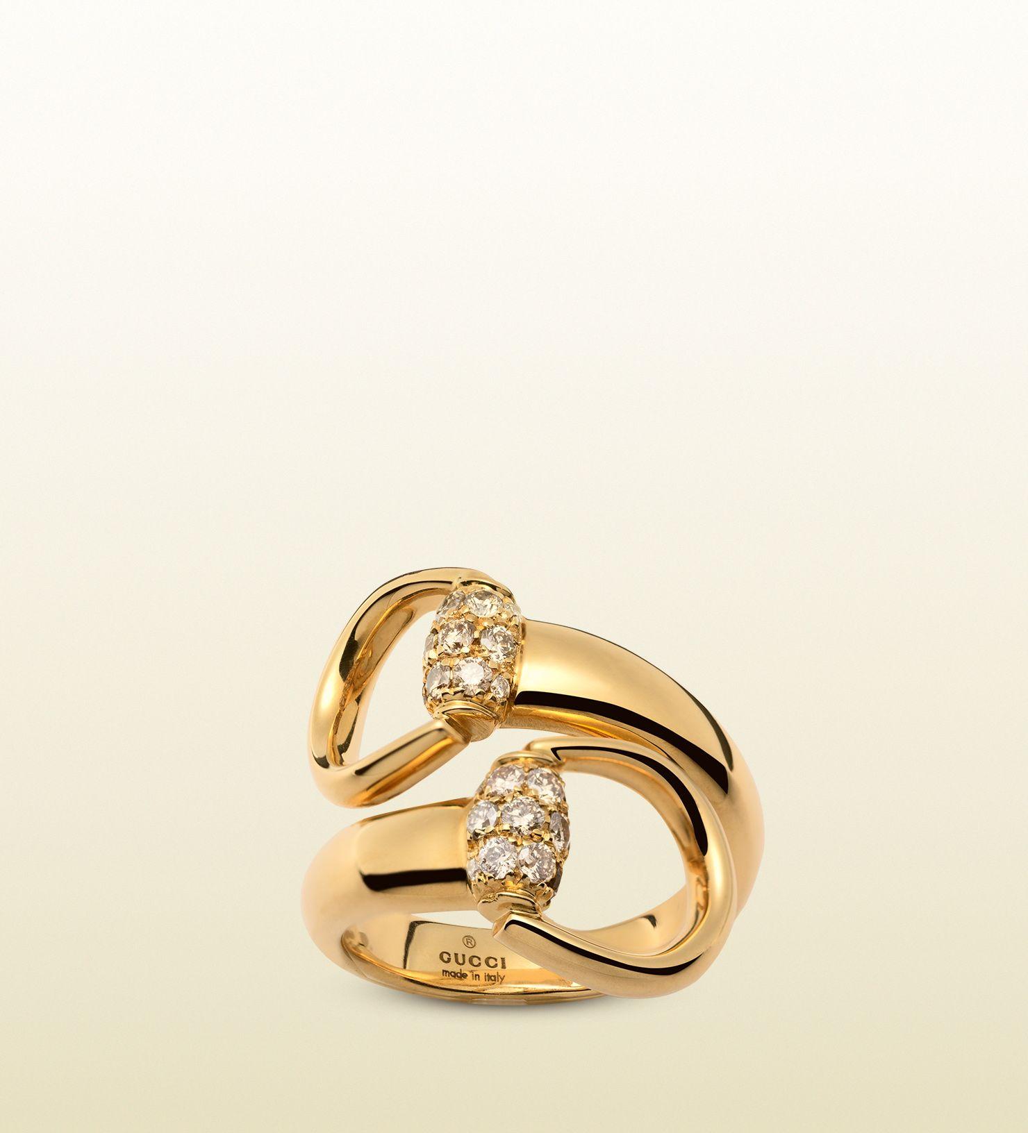 Gucci Gold ring with brown diamonds sI7Bc7fAjT
