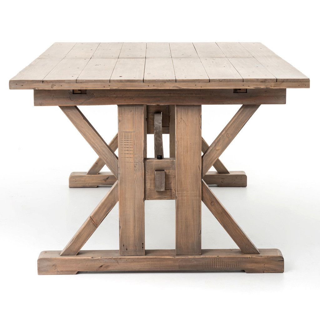The Tuscan Spring Extension Dining Table Is A Traditional With Built In Center Extensions Crafted From Reclaimed Pine