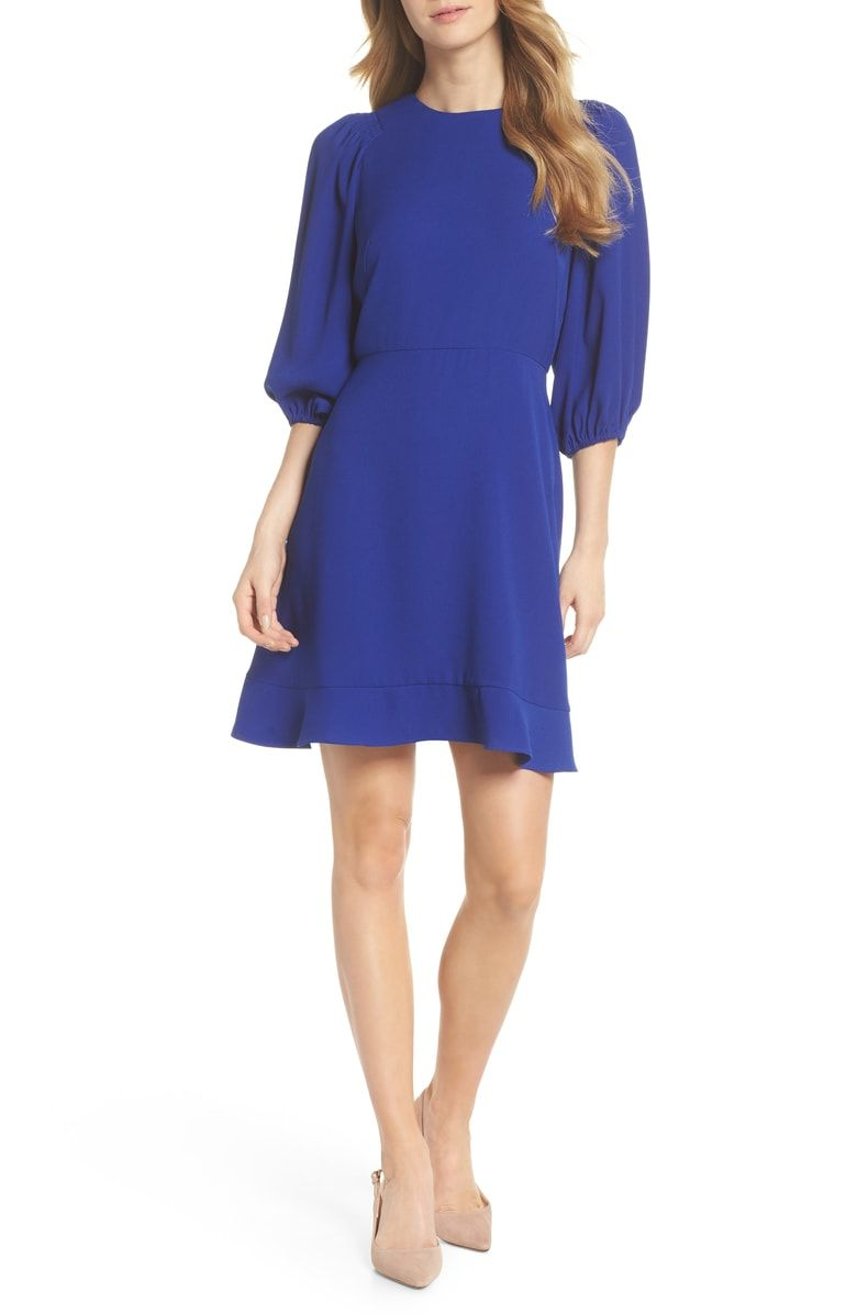 Chelsea28 blouson sleeve fit flare dress with images