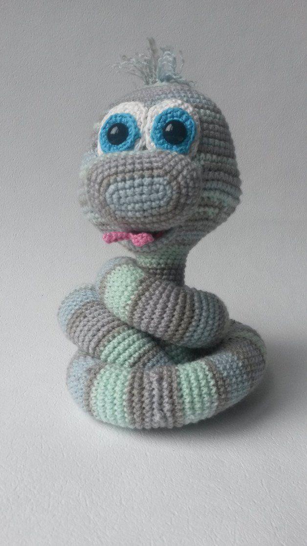 Crochet Pattern Elsa, the Snake (XL) | Elsa, Häkelanleitung und Dawanda