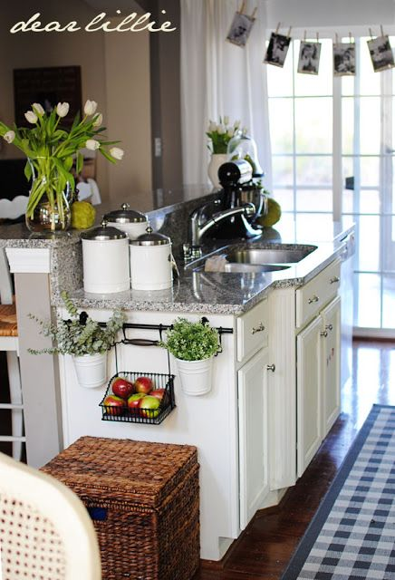 Kitchen Island / Ikea Rods For Fruit And Plant Storage/display