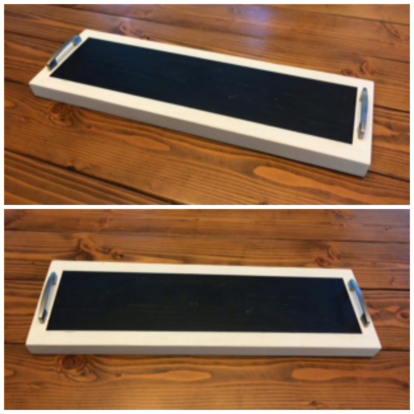 Diy Kitchen Table Centerpiece. Serving Tray. DIY Centerpiece. Chalkboard  Paint. Diy Tray