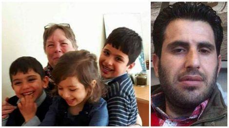 Links: de drie vermiste kinderen. Rechts: de 35-jarige vader.: