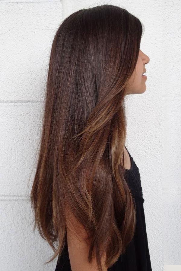 Silk Straight Human Hair 7 Pcs Clip In Hair Extensions Long Thin Hair Hair Styles Long Brown Hair