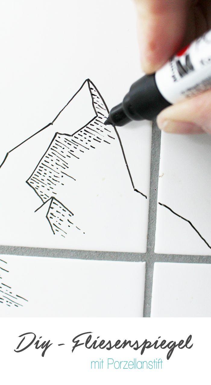 Do it yourself: Neuer Fliesenspiegel mit Porzellanstift | Christmas ...