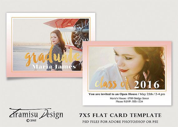 Senior Graduation Card Photoshop TemplatePhotography Template