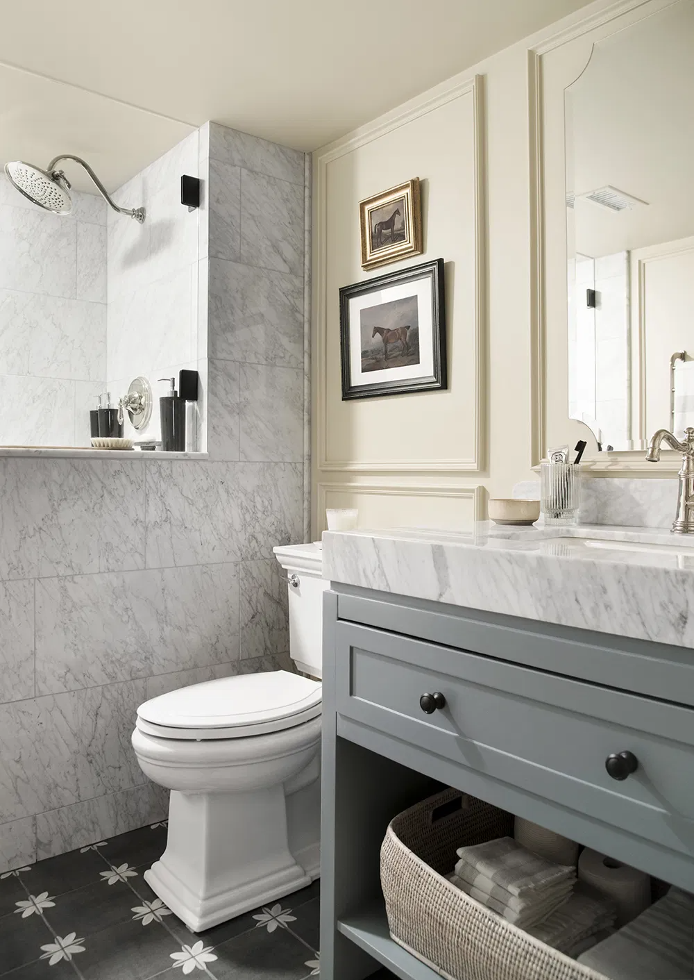 How To Make A Small Bathroom Look Larger Room For Tuesday In 2020 Small Bathroom Basement Bathroom Cheap Apartment Decorating