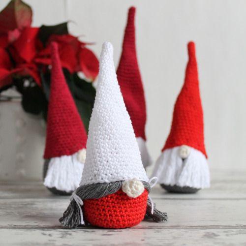 Crochet Christmas Gnome   Wichtel, Häkeln und Weihnachten