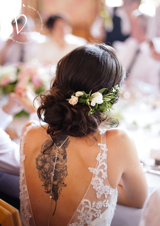 Mariage Wedding Coiffuremariage Cheveux Fleurie Broche Jasmin Anglais Poudre Blanc Decor Fleur Cheveux Mariage Chignon Mariee Coiffure Mariee Boheme