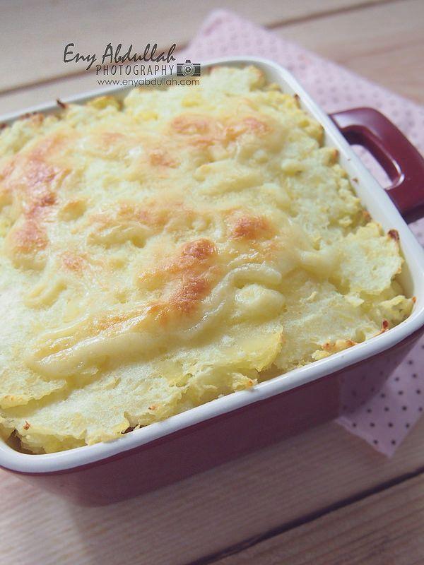 Cheesy Baked Potato With Macaroni Resep Makanan Makanan Dan Minuman Makanan