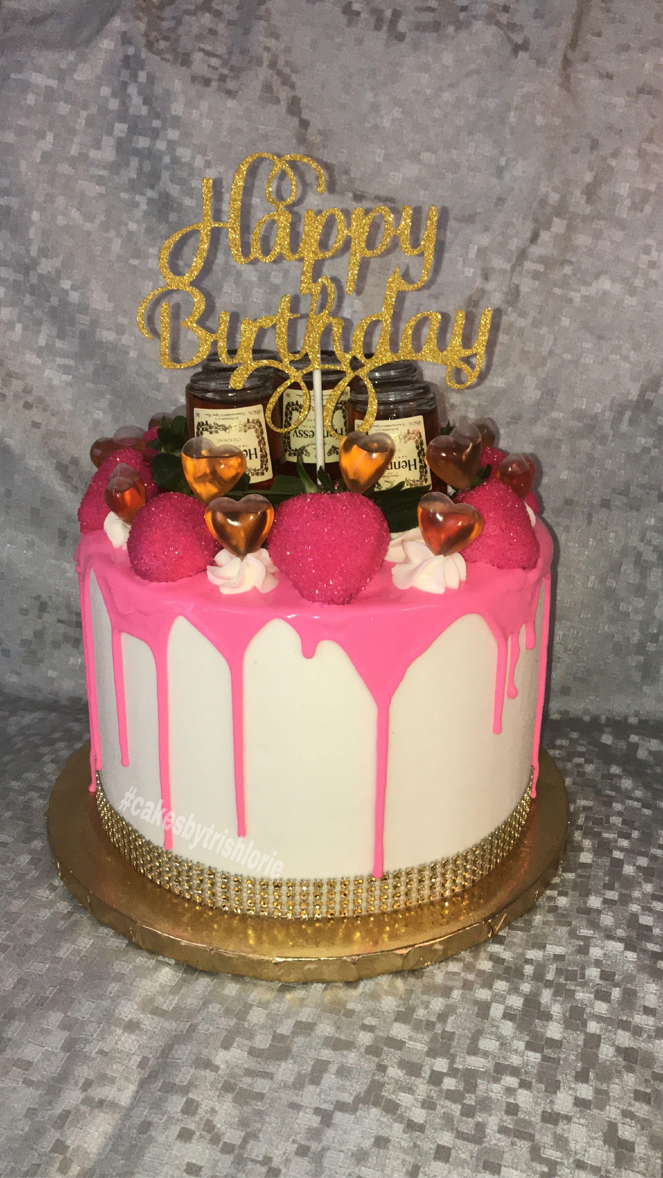 Hennessy drip cake 21st birthday cakes alcohol cake