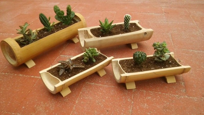 artesania en bambu Jardineras - luz de lis | Garden indoor ...
