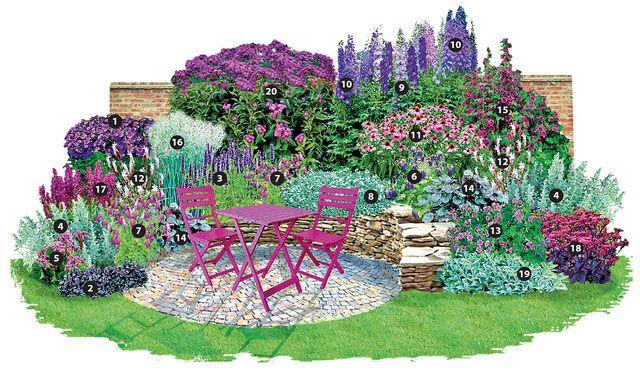 ein traum in purpur und silber stauden blumengarten. Black Bedroom Furniture Sets. Home Design Ideas