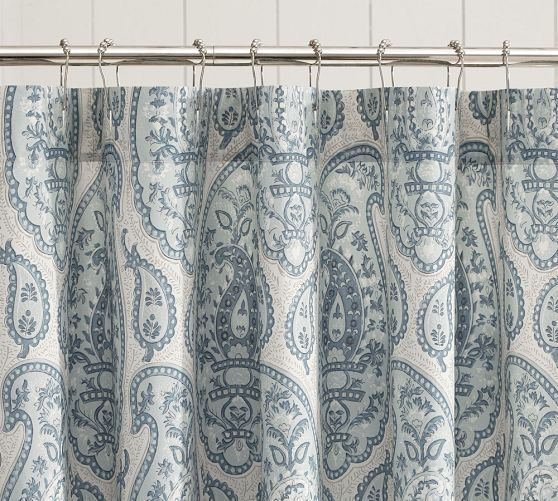 Ashlyn Paisley Organic Shower Curtain Paisley Shower Curtain