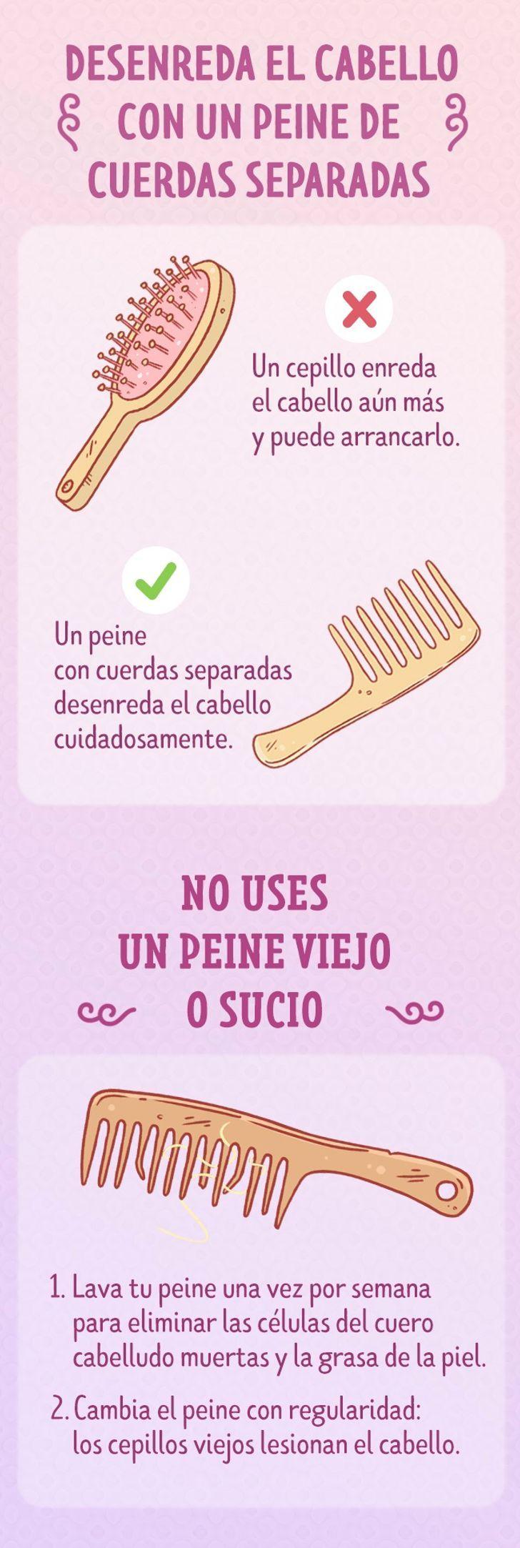 Cómo Cepillar El Cabello Correctamente Cepillado De Cabello Consejos Para El Cabello Como Lavar El Cabello