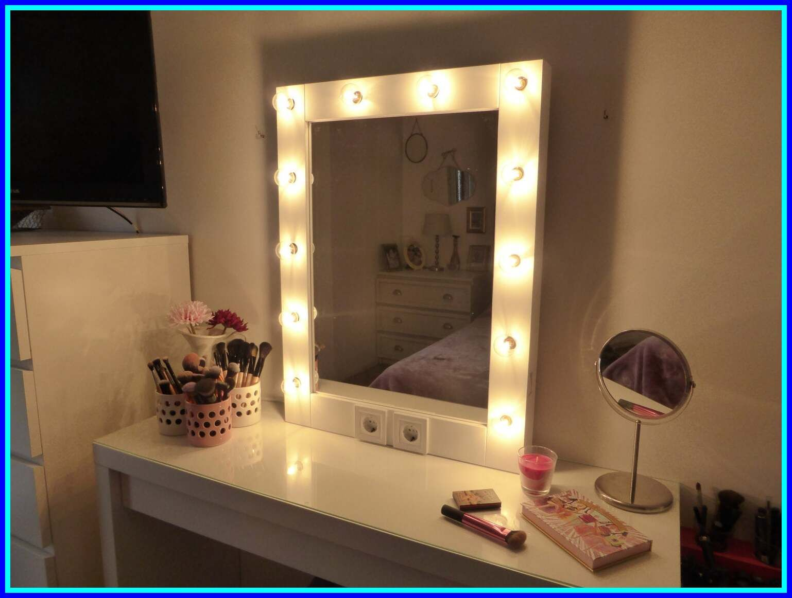 64 Reference Of Vanity Makeup Dresser With Lights In 2020 Mirror With Lights Diy Vanity Mirror Mirror With Light Bulbs