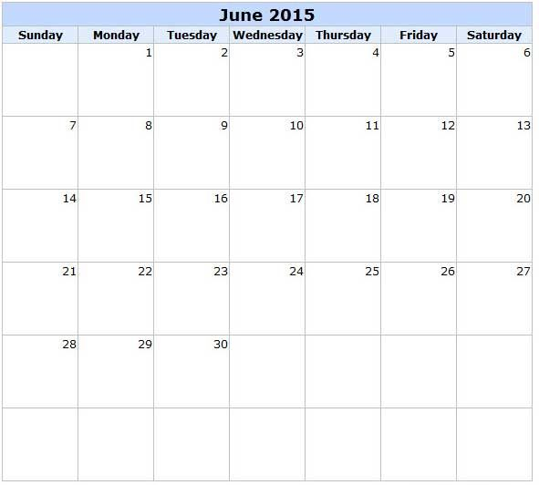 Pin On June 2015 Calendar