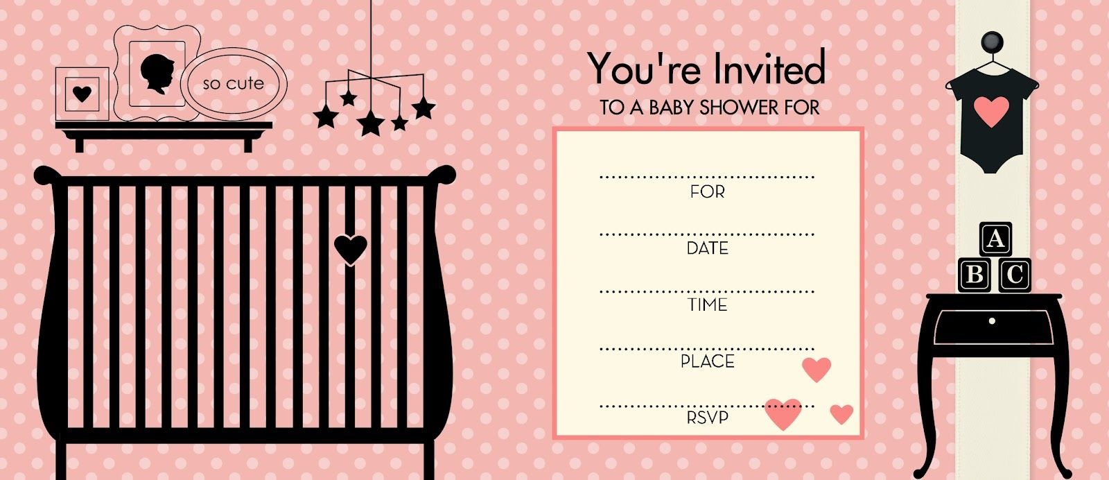 17 Best images about Baby Shower – Baby Shower Template Invitations
