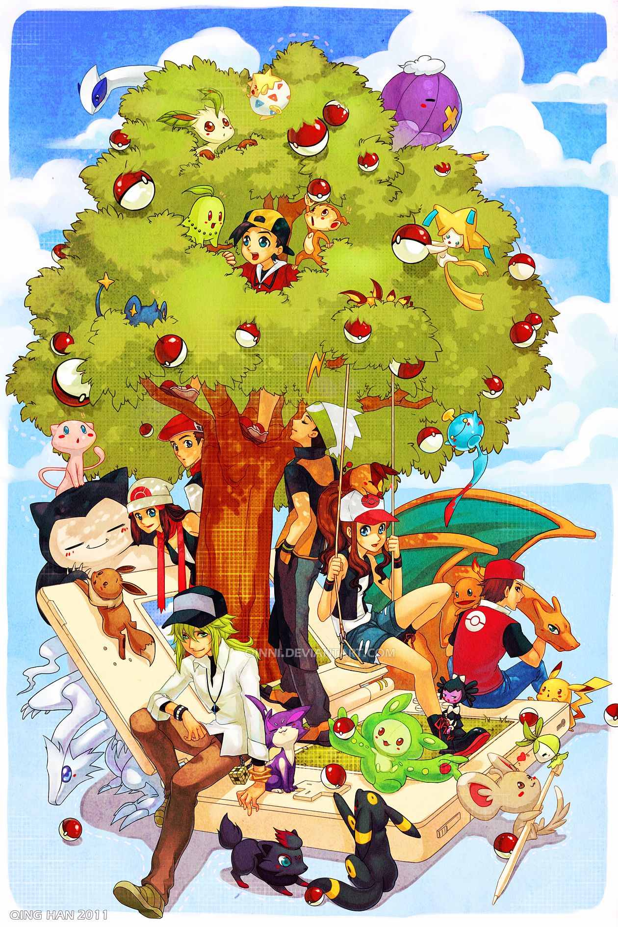 Pokemon - DS Style by =Qinni