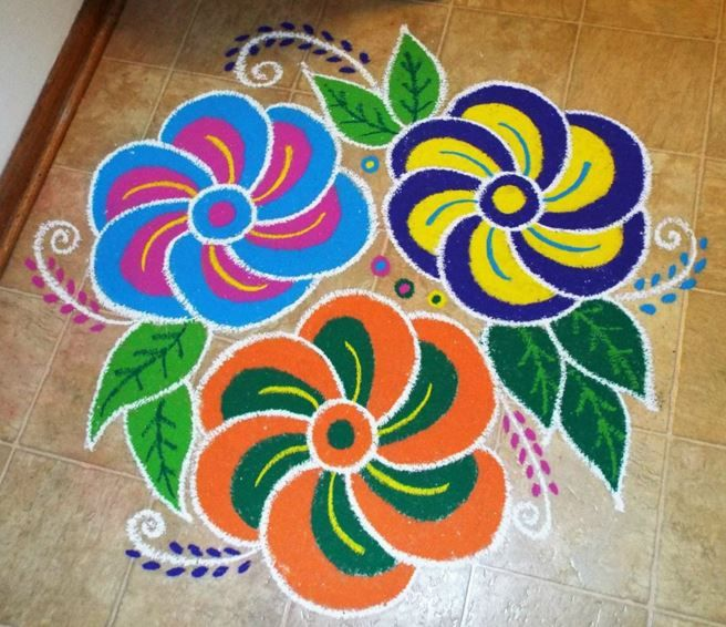 Indian rangoli rangoli indian rangoli rangoli designs for Floor rangoli design