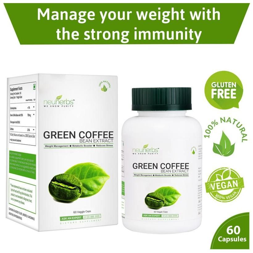 Buy Neuherbs Green Coffee Bean Extract-60 capsules Online ...