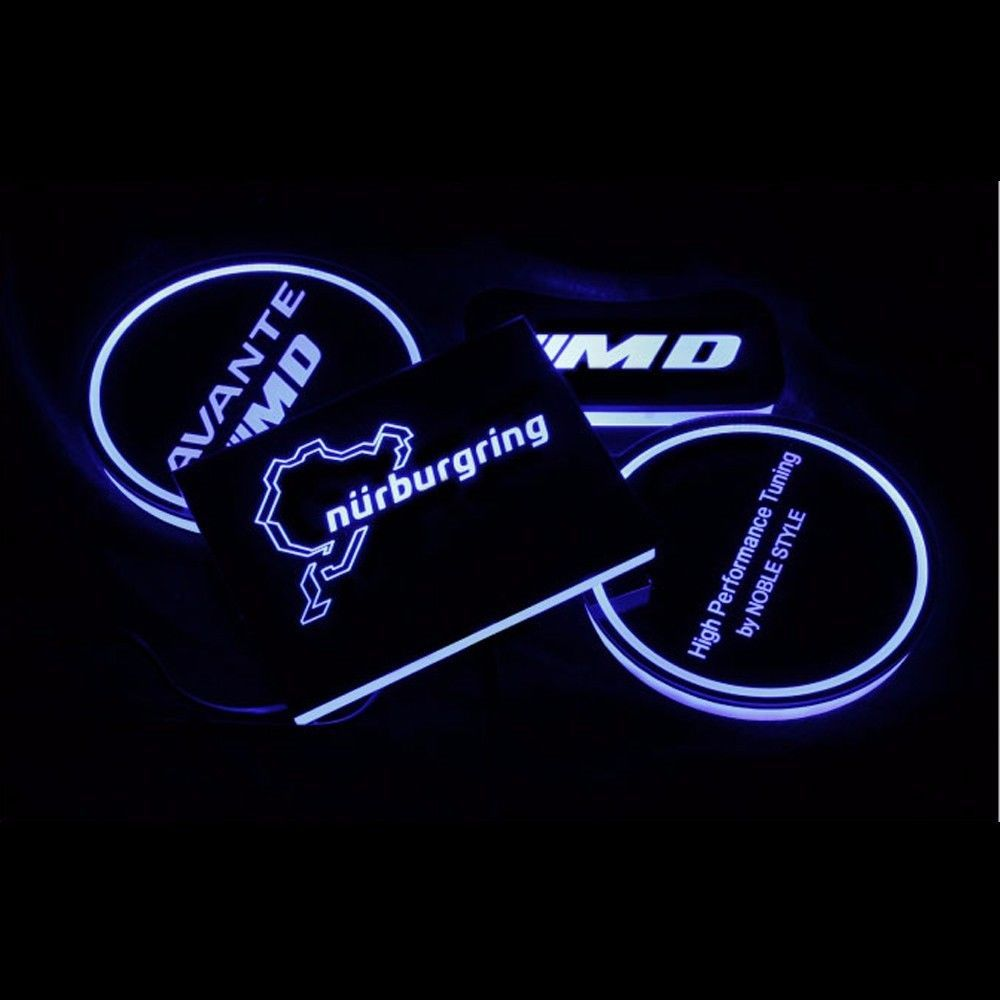 LED Cup Holder Console Plate Set For Hyundai Elantra (Avante MD) 2011~2015