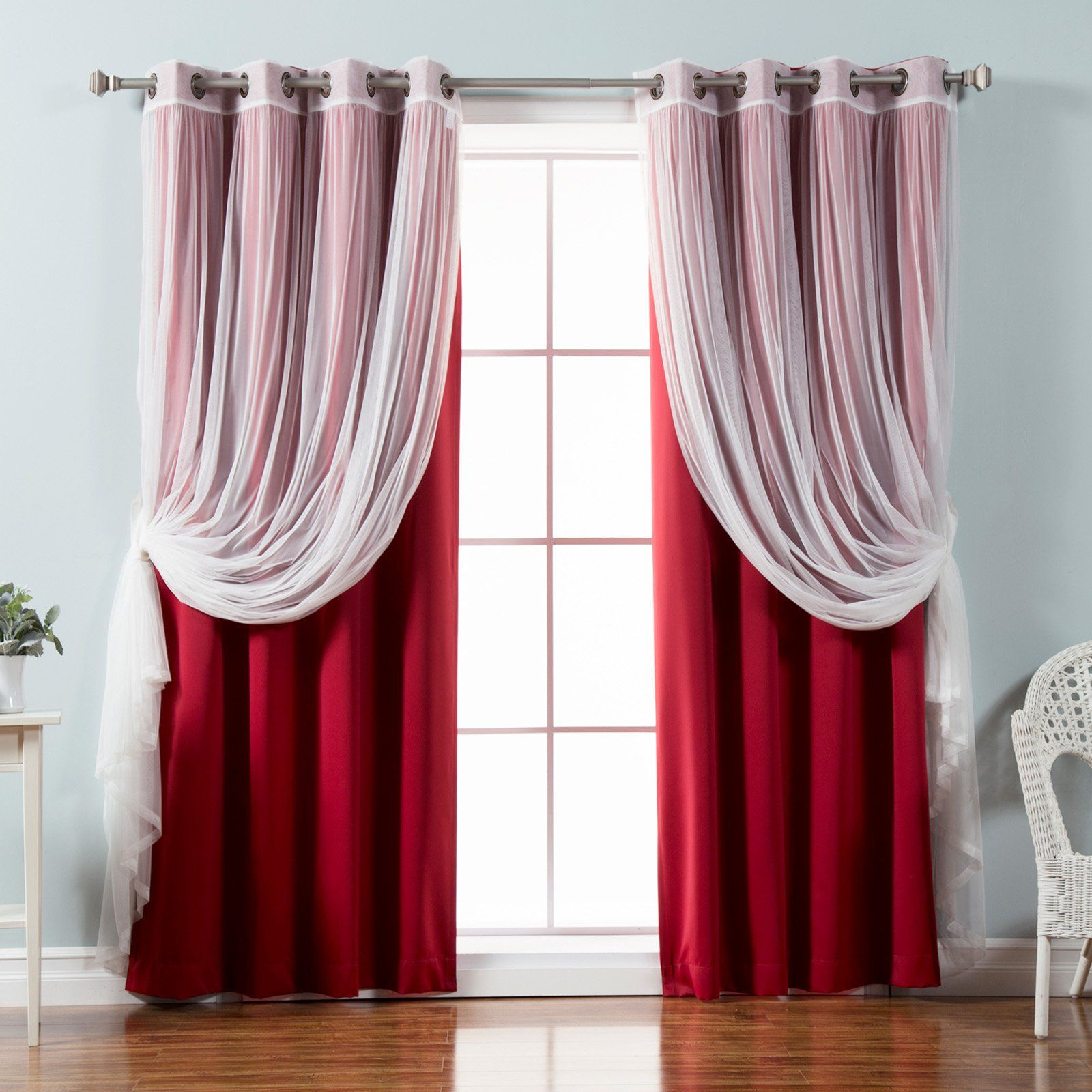 Tulle Sheer Lace Blackout Curtain